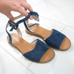 Kenneth Cole | Navy 'Jolly' Ankle Strap Sandals